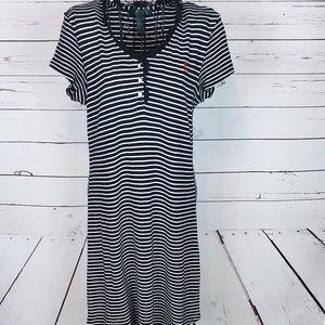 Lauren Ralph Lauren Striped Henley S/S Dress
